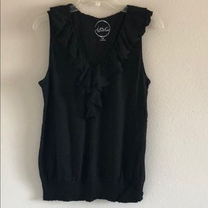 Tops - inc black tank top with ruffles